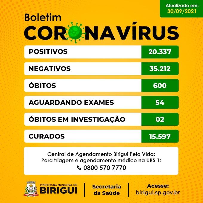 Birigui confirma mais um óbito por covid-19