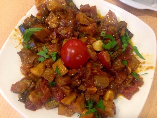Turkish Saksuka, aubergine starter