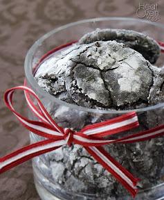 chocolate cherry crinkle cookies