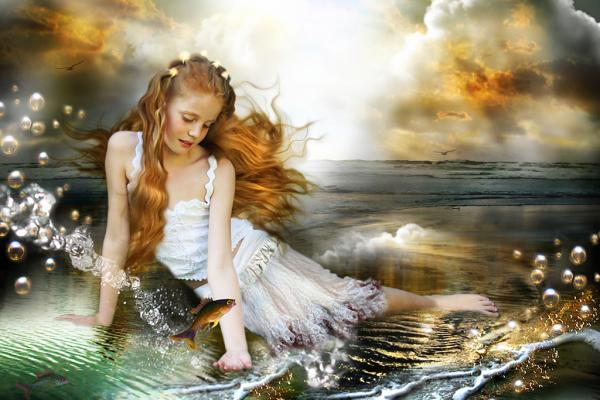 Little Girl On Seaside, Magic Beauties 3
