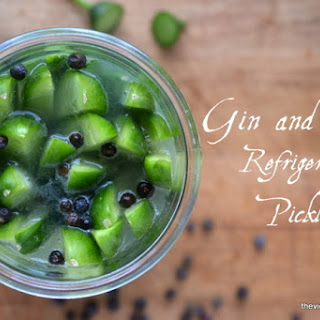 Gin & Tonic Refrigerator Pickles.
