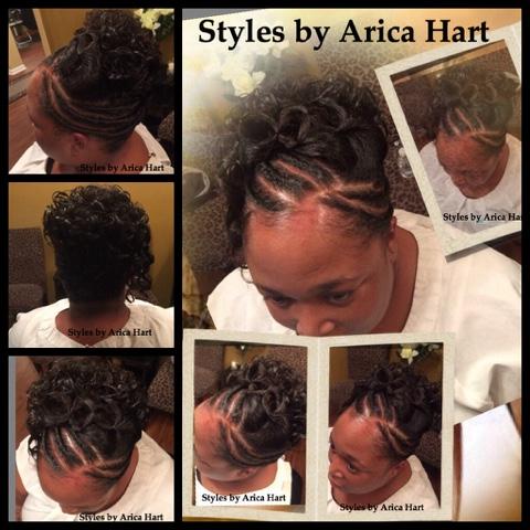Updo hair style, black hair style,
