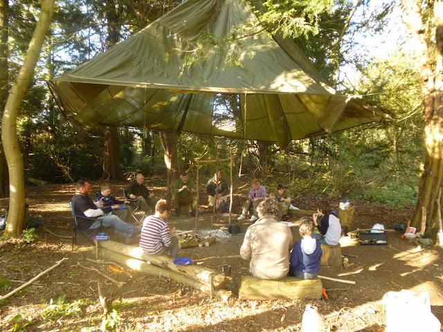 Fenland Bushcraft parachute shelter