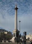 Londres: colonne Nelson sur Trafalgar Square