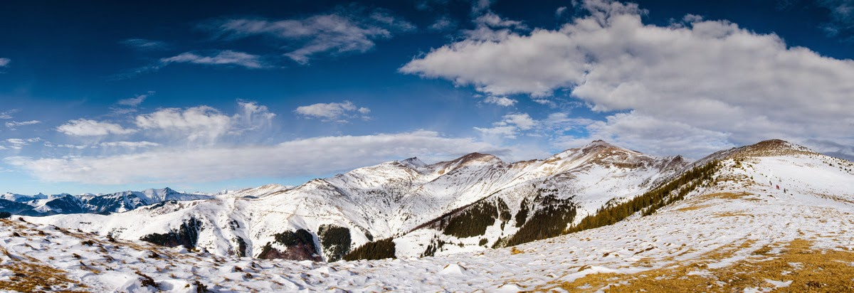 Panorama M-tii Rodnei - vedere spre Varful Ineu