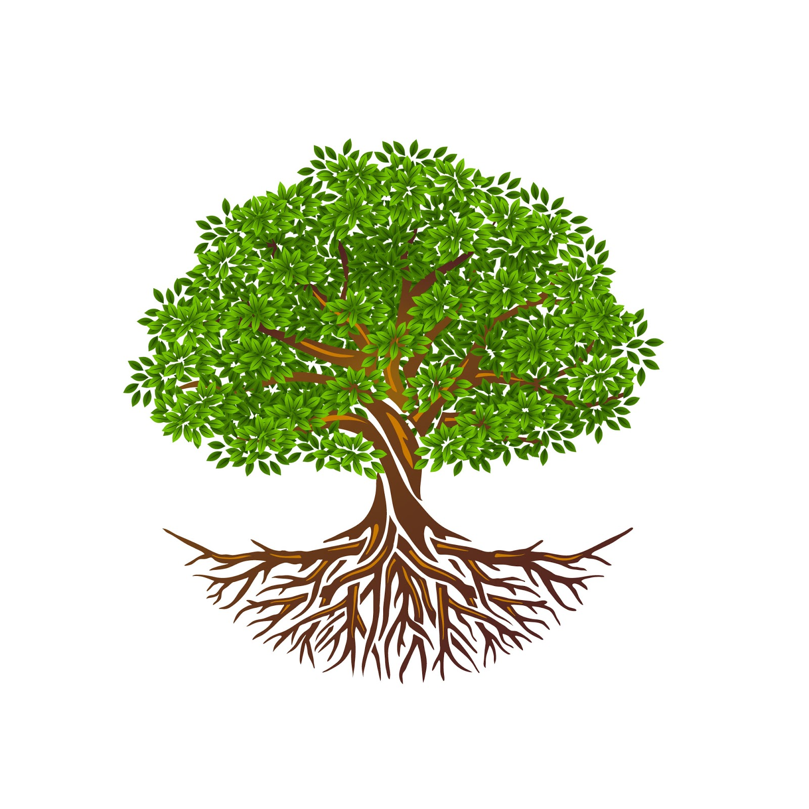 Tree Life Tree Roots Vector Isolated Tree Free Download Vector CDR, AI, EPS and PNG Formats