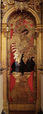 Иконостас Преображенской церкви Таллина, врата в жертвенник.