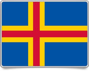 Aland-Island  framed flag icons with box shadow