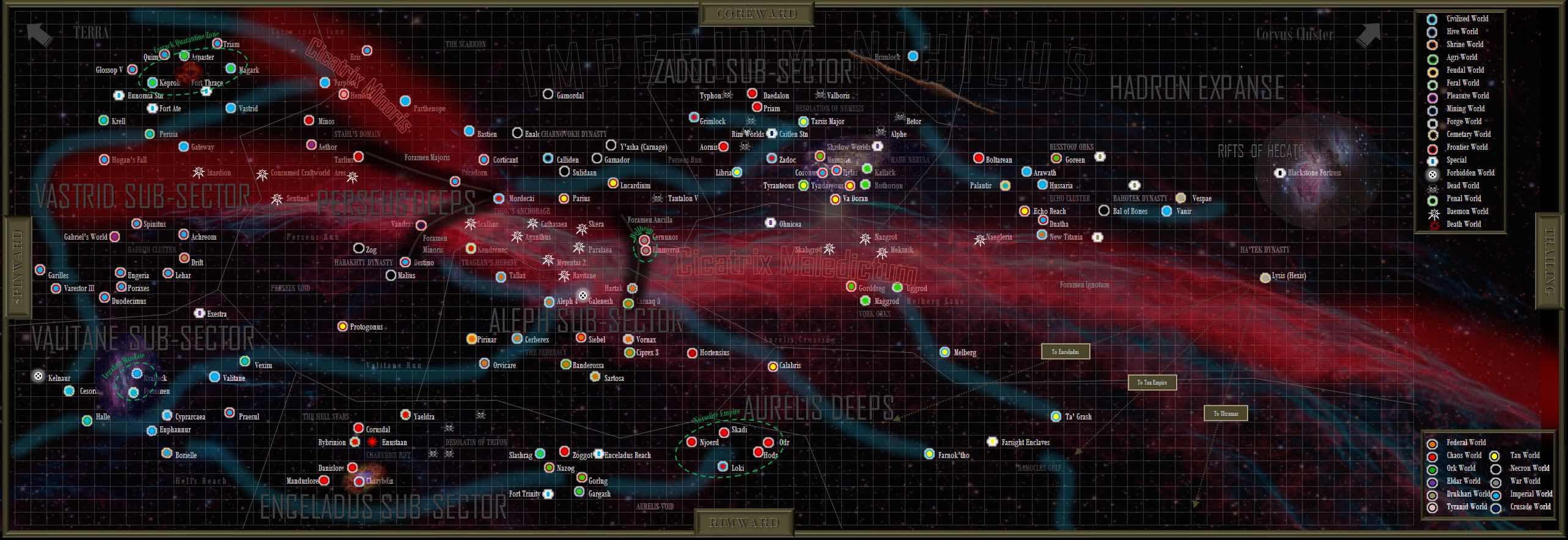 Aleph Sector 40K Campaign: Timeline