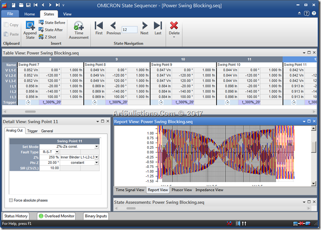 Power Swing dengan State Sequencer