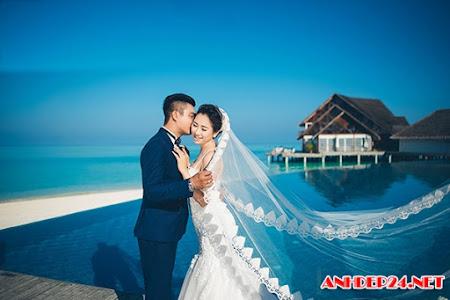 Sau đám cưới 6 tỷ, nữ đại gia Bình Phước khoe ảnh ở Maldives