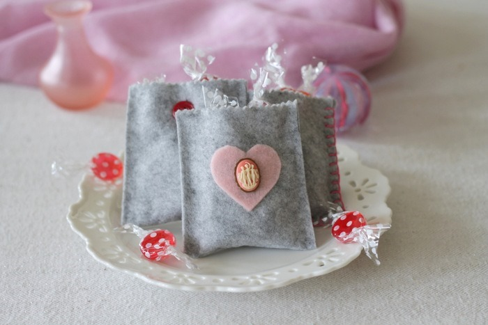 Grey Felt Valentine's Day Treat Bags by homework - carolynshomework (2)