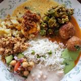 北インド料理ピリヤンカ(写真:Rico) ピリヤンカさん「春のミールス」