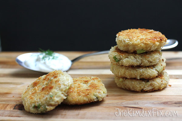Fried tuna cakes