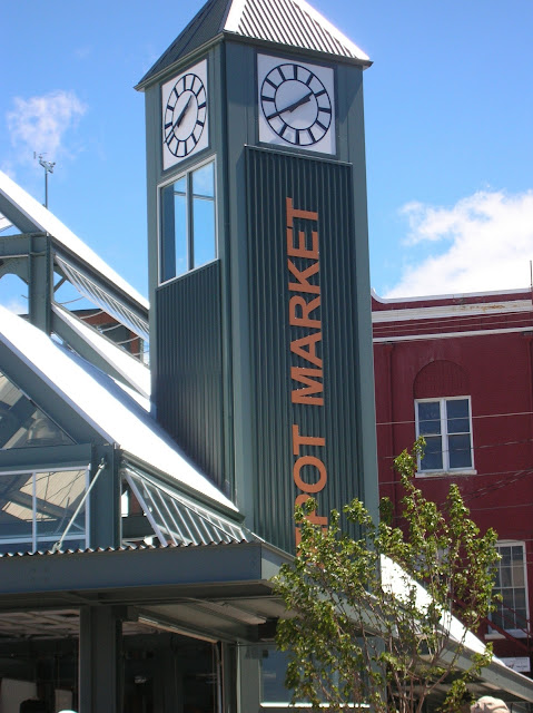 The tower of Depot Market Square is home to a bronze locomotive bell dating back to the early 1900's.Credit: Caroline Kinsman