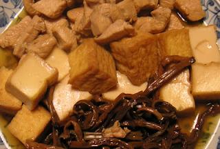鶏肉とゼンマイの煮物