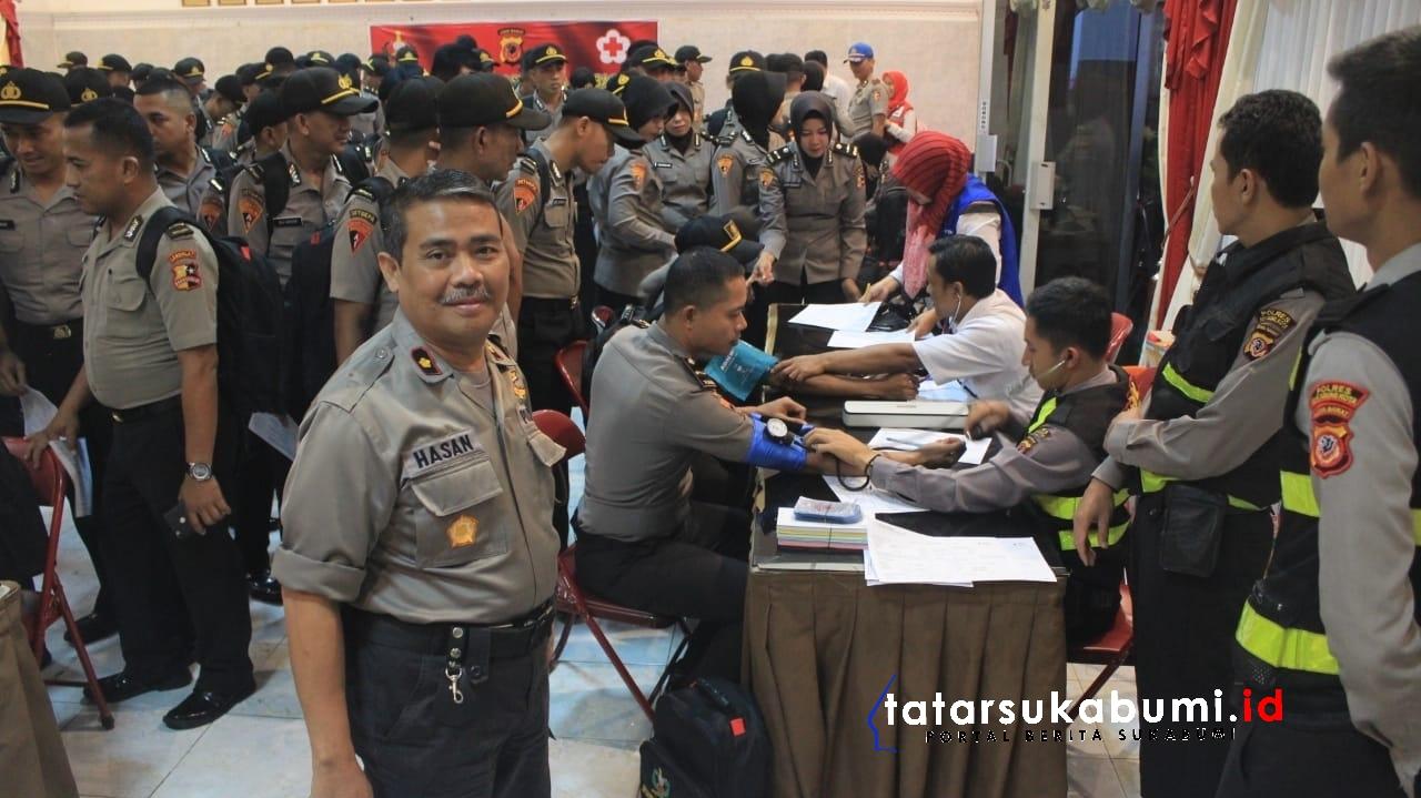 HUT Bhayangkara Polri ke-73 Polresta Sukabumi Sumbang 214 Kantung Darah ke PMI