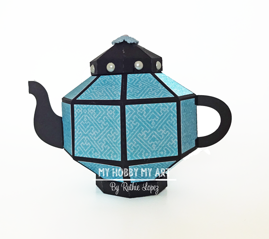 3D Teapot, Silhouette Cameo, Mo, SCrapandome, Ruthie Lopez 2