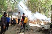 Datangi Lokasi PETI Di Biaban, Polisi Temukan Sisa Papan Kiyan