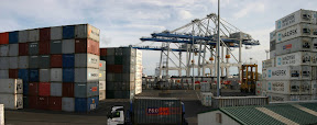 Auckland Port panorama