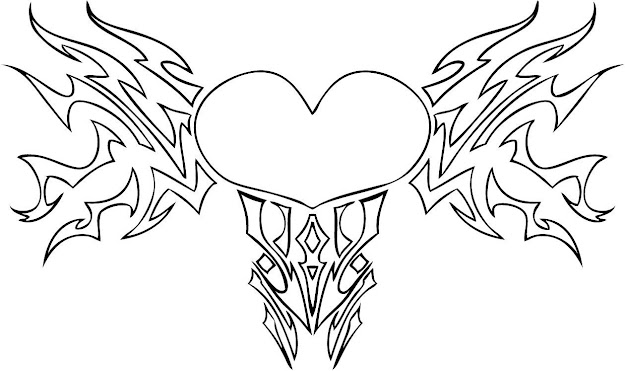 Free Printable Heart Coloring Pages For Kids In Incredible Hearts With  Wings Coloring Pages