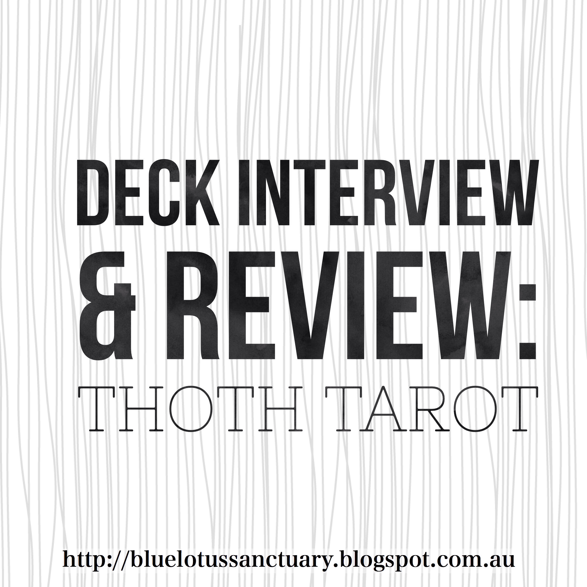 Blue Lotus Sanctuary: Deck Interview and Review: Thoth Tarot
