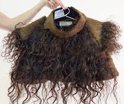 A hairy garment, woven from human hair by Alix Bizet – putting human fibre to good use.