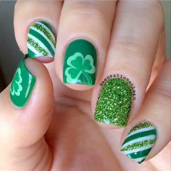 Pretty Four Leaf Clover Nail Art Ideas Fashion 2d