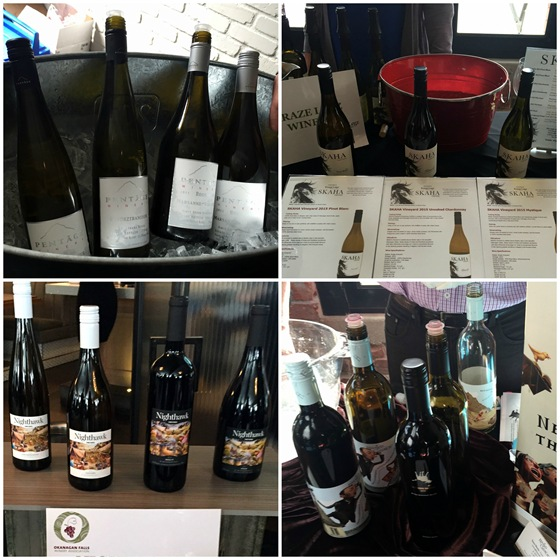 Some of the fourteen wineries and hundreds of wines from the OFWA