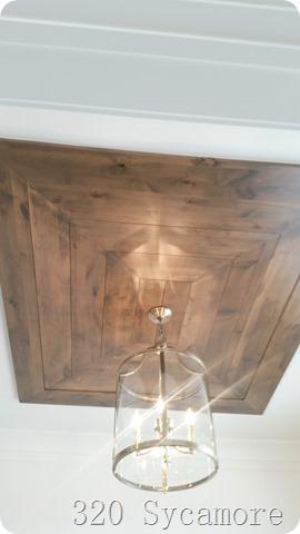 wood ceiling treatment