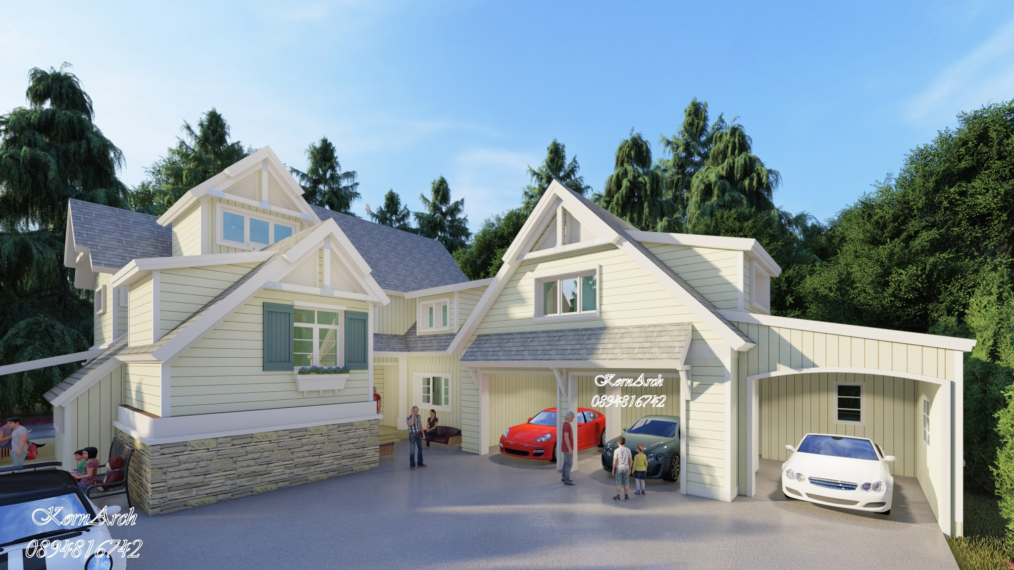 แบบบ้าน2ชั้น สไตล์อิงลิชคอทเทจ เจ้าของโครงการคุณชัยแสง สุคนธบุศย์ สถานที่ก่อสร้าง เขตตลิ่งชัน กทม