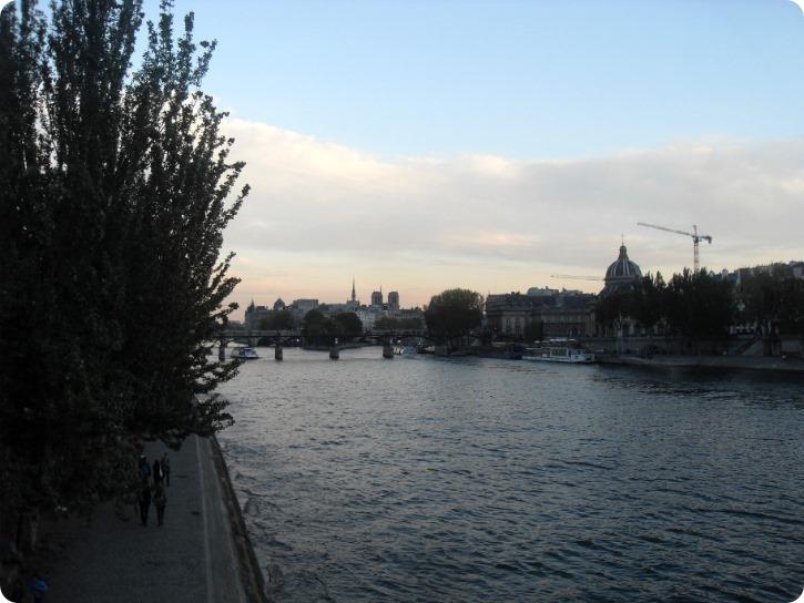 Seinen og et kig mod Ile de la Cite - Paris
