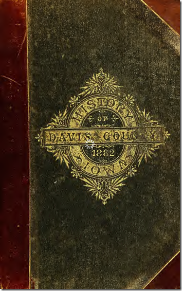 Cover of the History of Davis County, Iowa