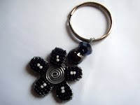 Beaded Flower Keyring