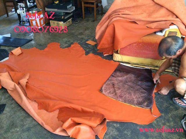 Bọc ghế sofa ghế salon da bò ý cũ tại TPHCM
