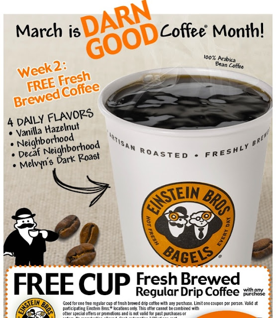 Einstein Bros Bagels Coupon Codes, Promos & Sales. Want the best Einstein Bros Bagels coupon codes and sales as soon as they're released? Then follow this .