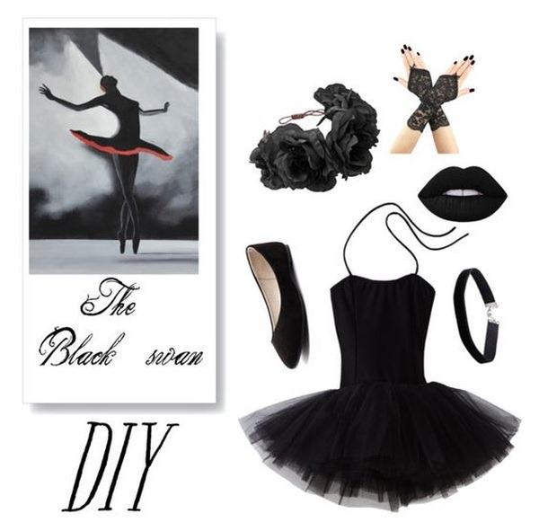 costume di carnevale da cigno nero