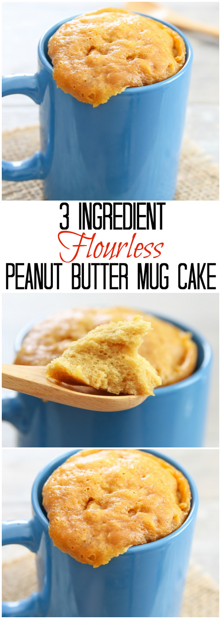 3 Ingredient Flourless Peanut Butter Mug Cake Kirbies Cravings