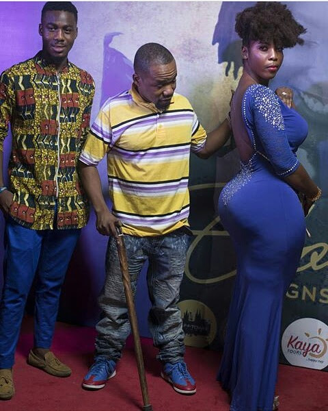 Endowed Ghanaian Lady Shut Down The Red Carpet With Her Massive Backside (Photos)