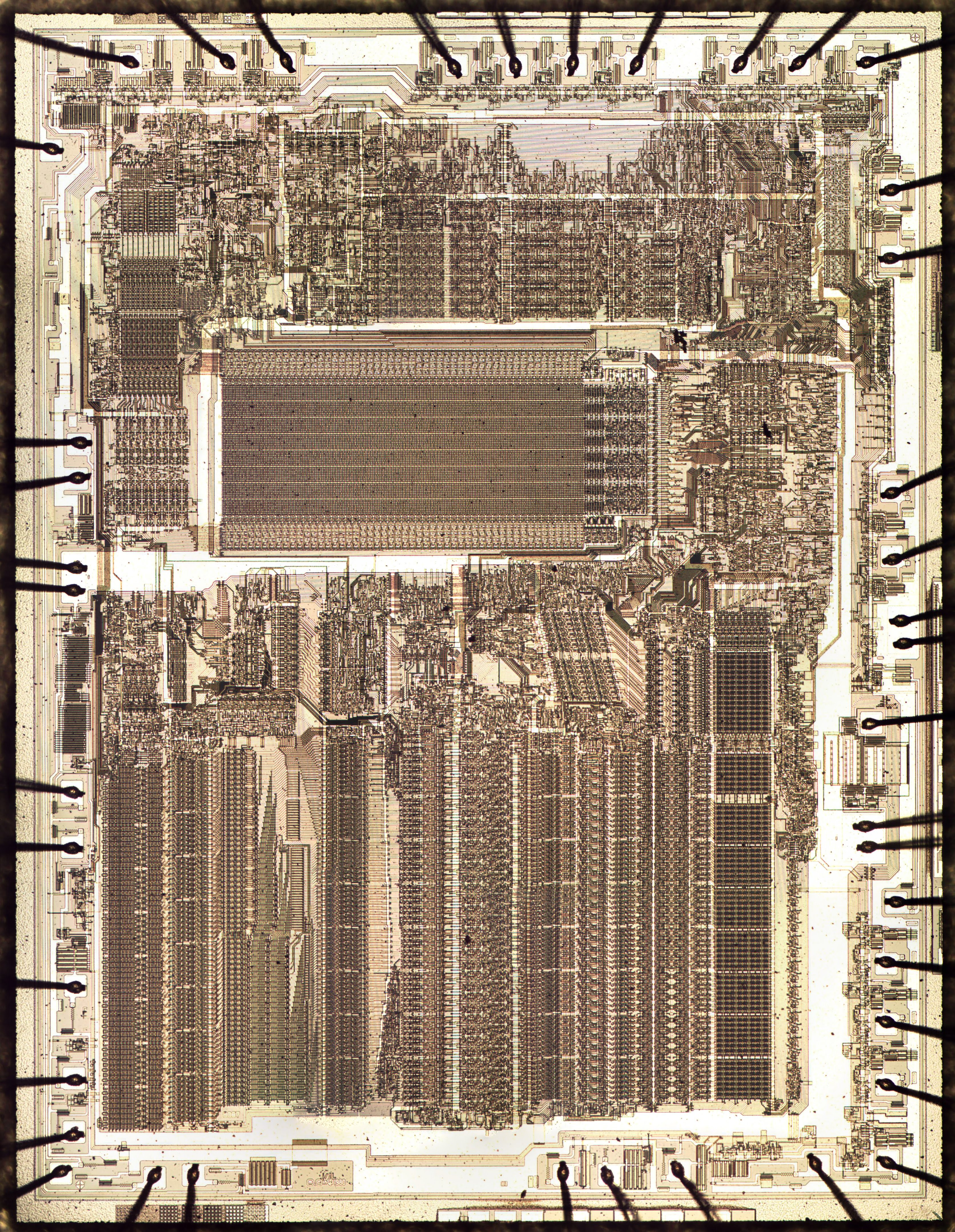 Two bits per transistor: high-density ROM in Intel's 8087 floating point chip
