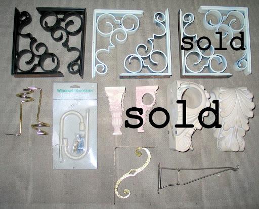 brackets and hooks $3-15 each,