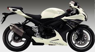 2011 Suzuki GSX-R 600 White colors