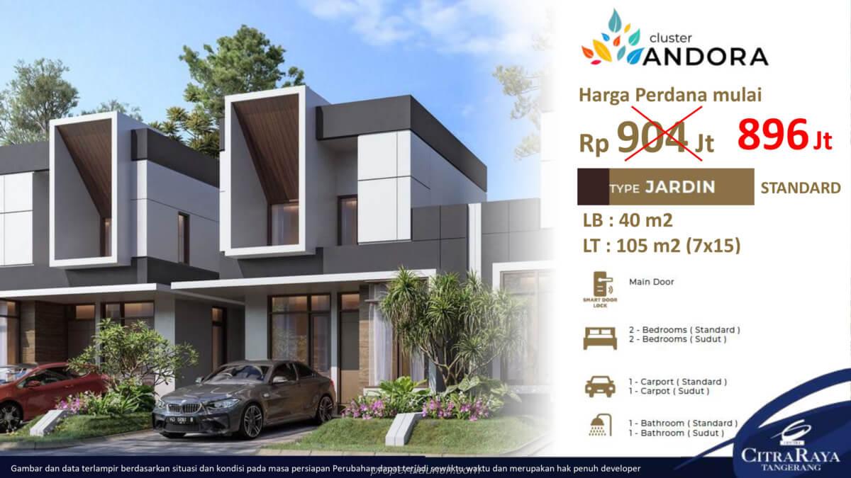 Rumah Andora Citra Raya Tipe 7x15