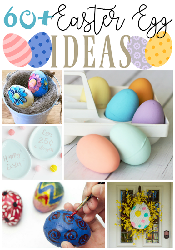 60  Easter Egg Ideas at GingerSnapCrafts.com #Easter #EasterEggs #spring