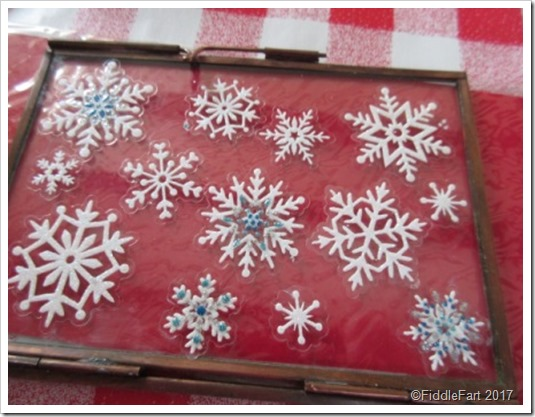 Glass Hinged Memory Frame Snowflakes[10]