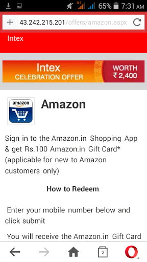 Free Amazon Gift card worth rs 100