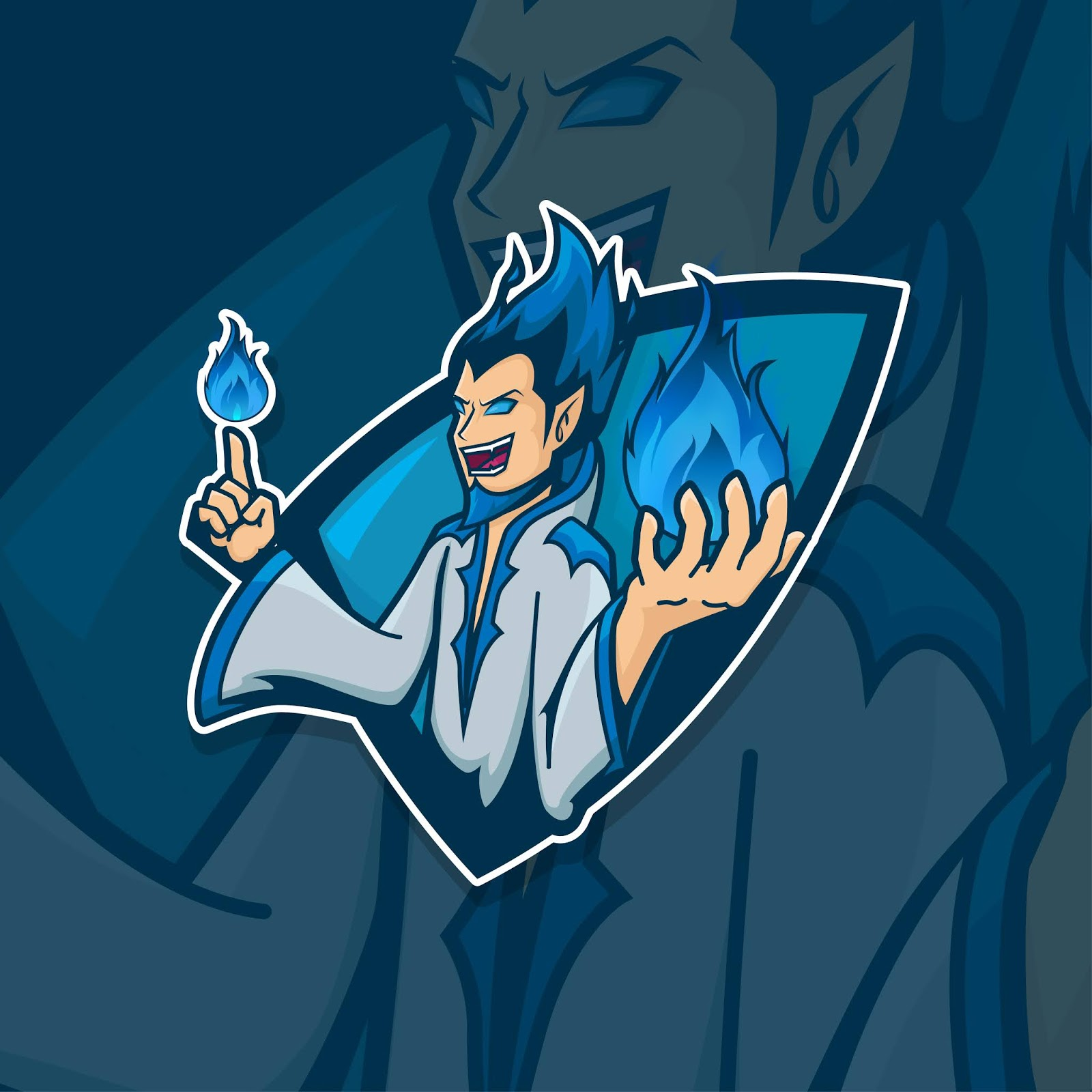 Esport Gamer Logo Wizard Free Download Vector CDR, AI, EPS and PNG Formats