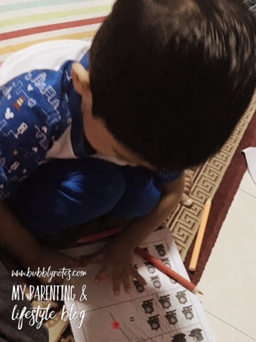 Homeschooling Activities_Idea Matematik Mudah Menggunakan Pelekat 6