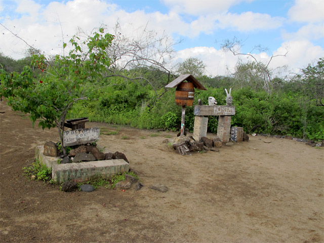 Floreana Island, Galapagos post office