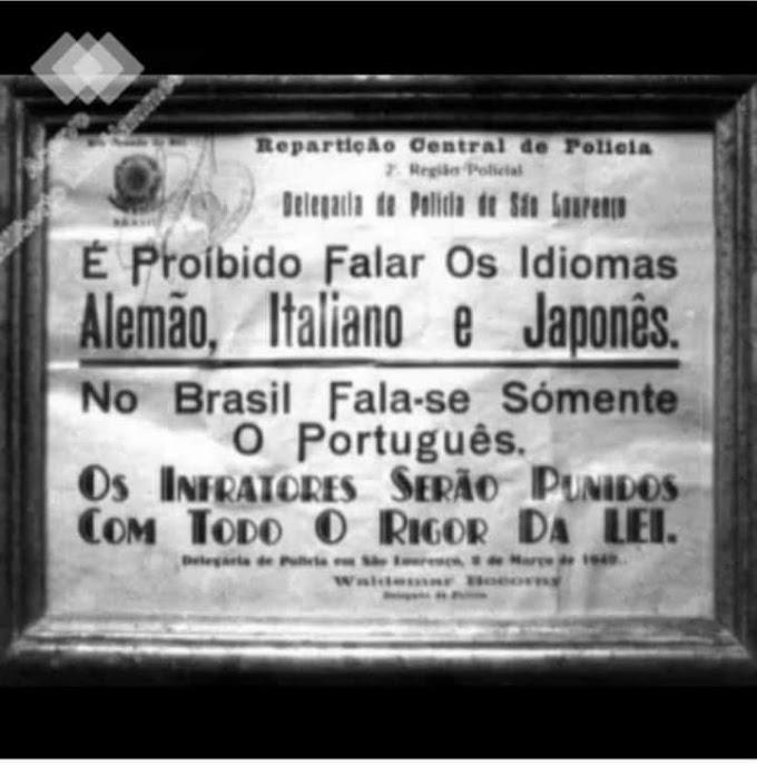 Você sabia que já foi proibido falar outra língua no Brasil?